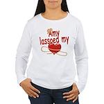 Amy Lassoed My Heart Women's Long Sleeve T-Shirt