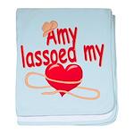Amy Lassoed My Heart baby blanket