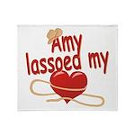 Amy Lassoed My Heart Throw Blanket
