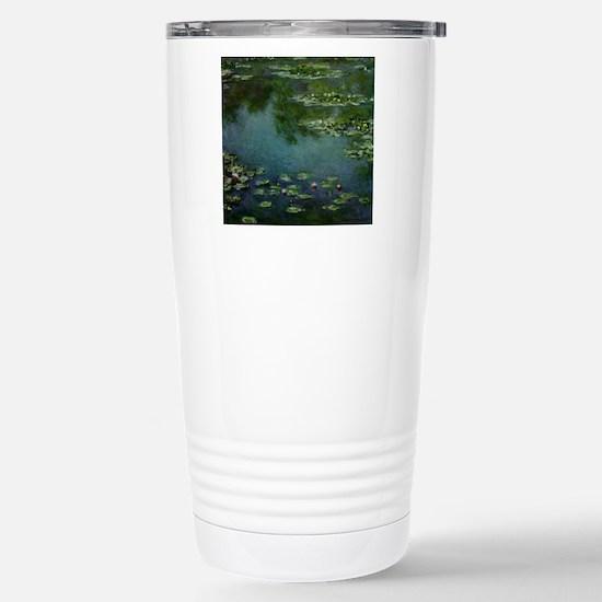 Water Lilies - Stainless Steel Travel Mug