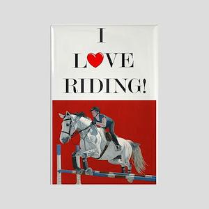 Hunter/Jumper I Love Riding! Rectangle Magnet