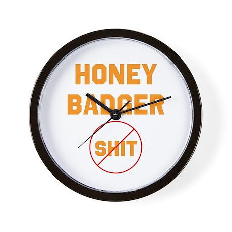 Honey Badger Don't Give a Shi Wall Clock