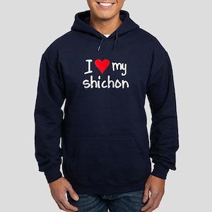 I LOVE MY Shichon Hoodie (dark)