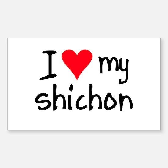 I LOVE MY Shichon Sticker (Rectangle)