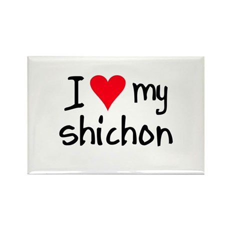 I LOVE MY Shichon Rectangle Magnet (10 pack)