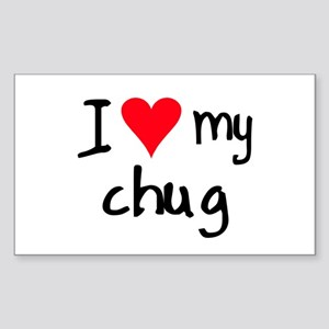 I LOVE MY Chug Sticker (Rectangle)