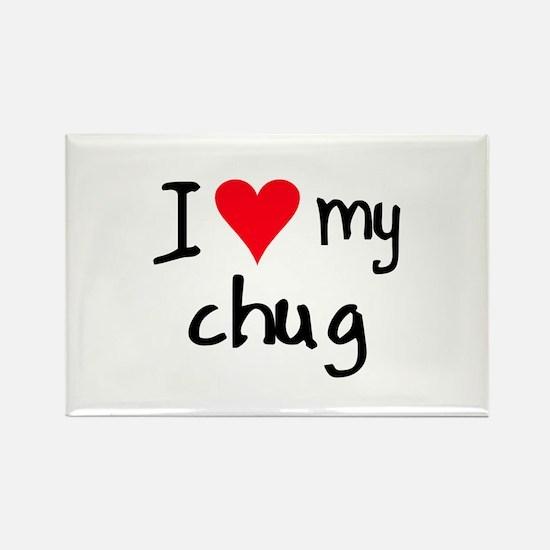 I LOVE MY Chug Rectangle Magnet