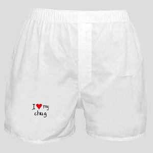I LOVE MY Chug Boxer Shorts