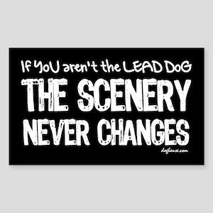 Lead Dog Rectangle Sticker