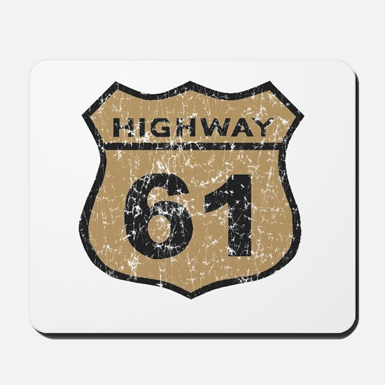 Retro Look Hwy 61 Road Sign Mousepad