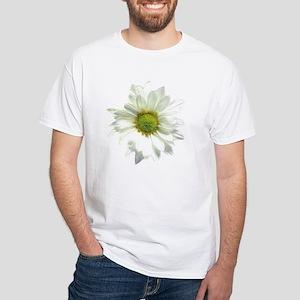 Flowers Pop Art/Butterflies White T-Shirt