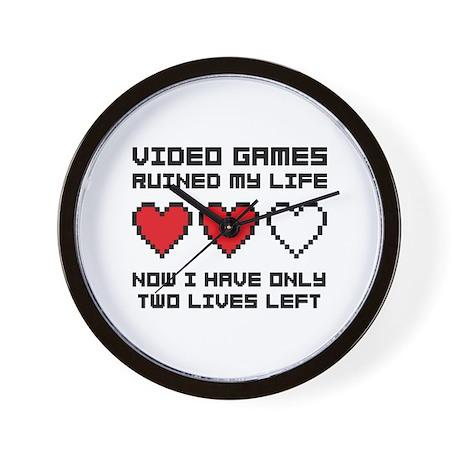 Video Games Wall Clock