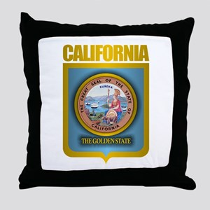 """California Gold"" Throw Pillow"