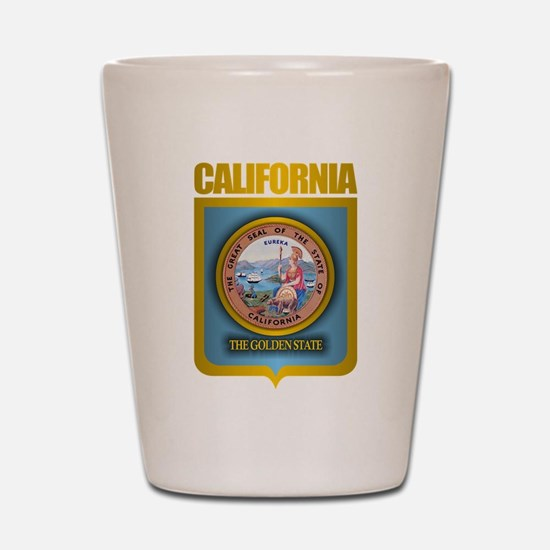 """California Gold"" Shot Glass"