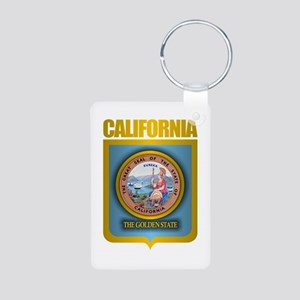 """California Gold"" Aluminum Photo Keychain"