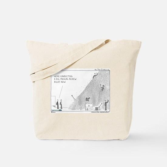Manual review, haystack Tote Bag
