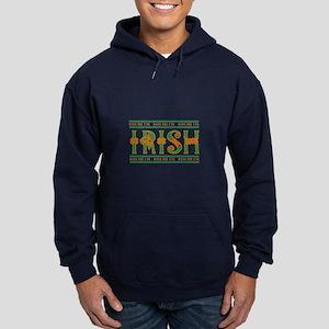 Kiss Me I'm Irish Hoodie (dark)