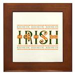 Kiss Me I'm Irish Framed Tile