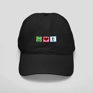 Peace Love Hiking Black Cap