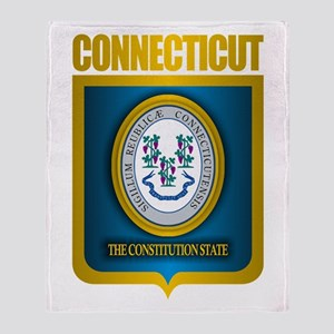 """""""Connecticut Gold"""" Throw Blanket"""