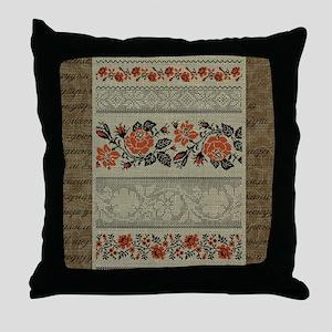 Traditional Ukrainian Embroid Throw Pillow