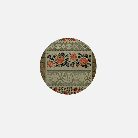 Traditional Ukrainian Embroid Mini Button