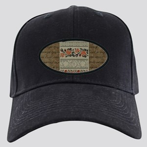 Traditional Ukrainian Embroid Black Cap