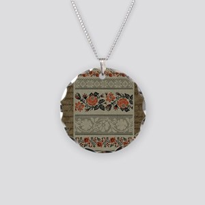 Traditional Ukrainian Embroid Necklace Circle Char