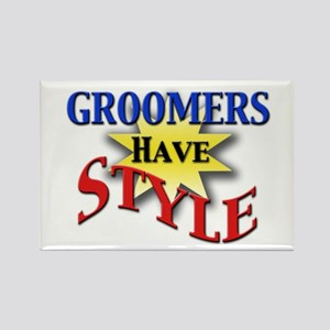 Groomers Have Style Rectangle Magnet