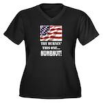 Numbnut Women's Plus Size V-Neck Dark T-Shirt