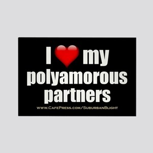 """Love Polyamorous Partners"" Rectangle Magnet"