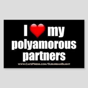 """Love Polyamorous Partners"" Sticker (Rectangle)"