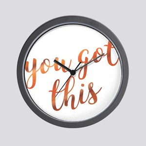 You Got This Inspirational Rose Gold qu Wall Clock