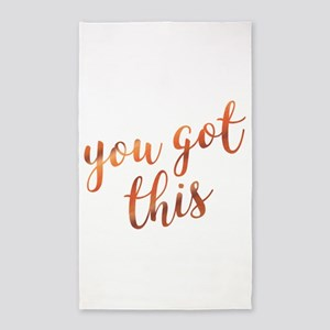 You Got This Inspirational Rose Gold quot Area Rug