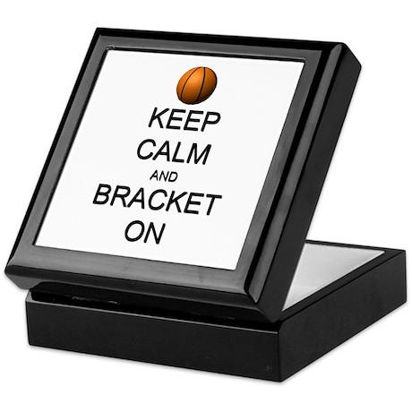 Keep Calm and Basketball Keepsake Box