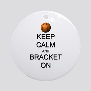 Keep Calm and Basketball Ornament (Round)