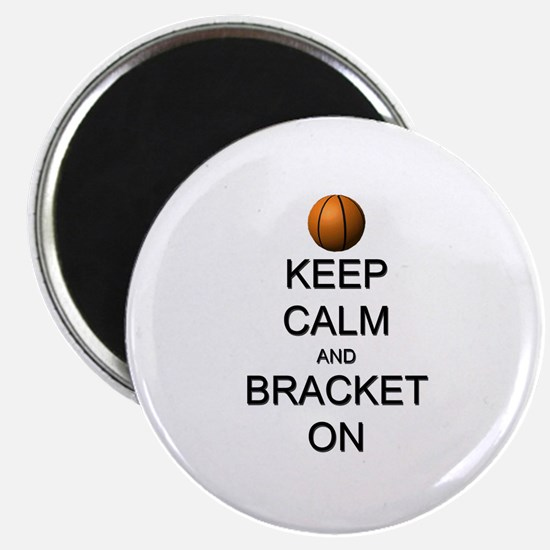 """Keep Calm and Basketball 2.25"""" Magnet (10 pack)"""