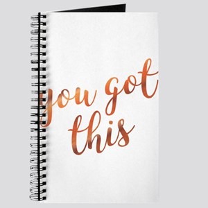 You Got This Inspirational Rose Gold quote Journal