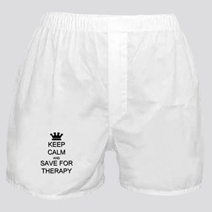Keep Calm and Therapy Boxer Shorts