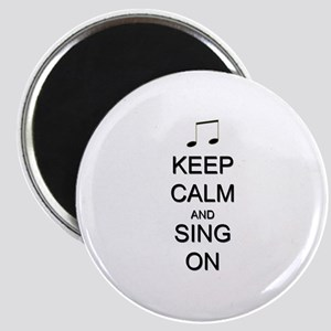 """Keep Calm and Sing On 2.25"""" Magnet (10 pack)"""