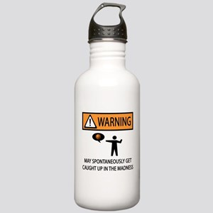 Warning Basketball Madness Stainless Water Bottle