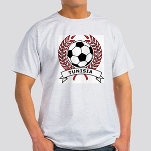 Soccer Tunisia Ash Grey T-Shirt