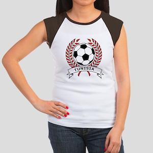 Soccer Tunisia Women's Cap Sleeve T-Shirt