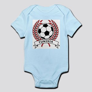 Soccer Tunisia Infant Creeper