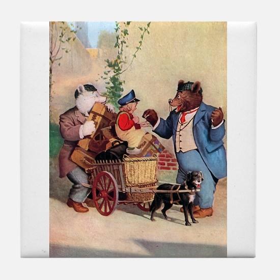 Roosevelt Bears and the Little Dutch Boy Tile Coas