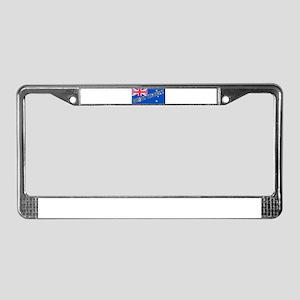 Aussie#4 License Plate Frame