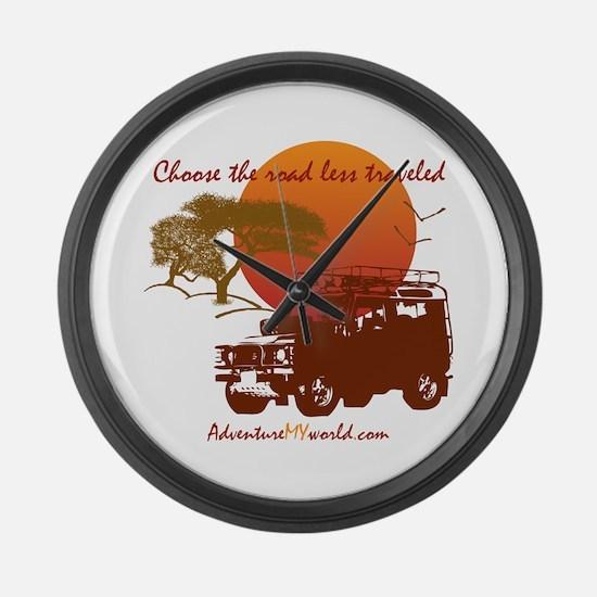 Cool Africa safari Large Wall Clock