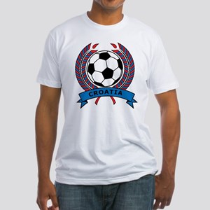 Soccer Croatia Fitted T-Shirt
