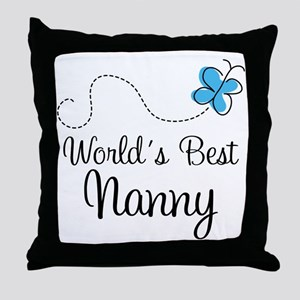 Nanny (World's Best) Gift Throw Pillow