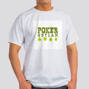 Poker Outlaw Ash Grey T-Shirt